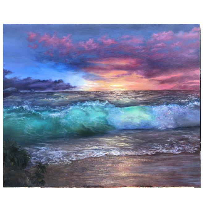 ''座間味島の海と夕日''