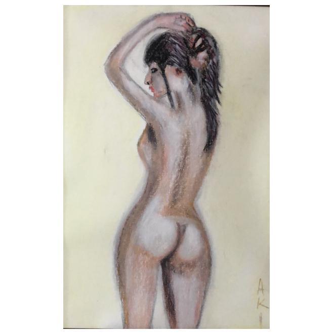 美少女裸婦、ポニーテール