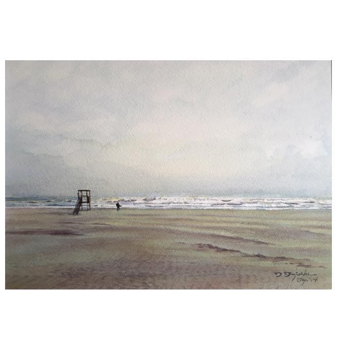 潮騒-1、九十九里浜の朝