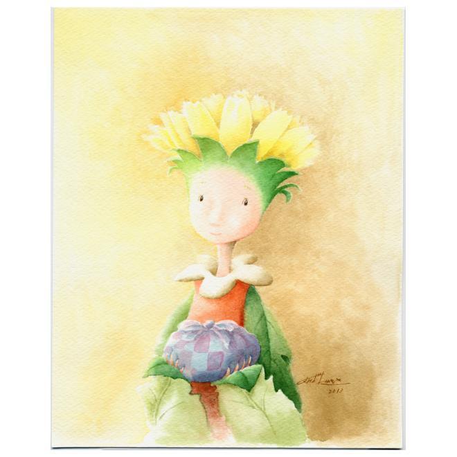 花の人 「おつかい途中のコーちゃん」