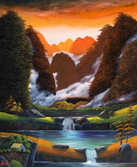 夕焼けの桂林