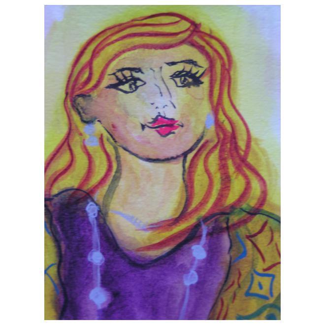 赤い髪の女性