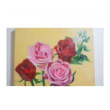 薔薇と白い花