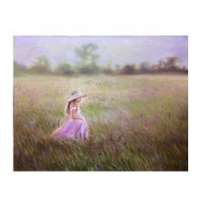 花畑と少女