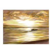 夕陽のボート