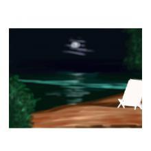 月のビーチ
