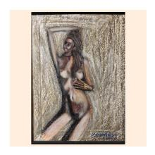 美少女裸婦、マーメイド