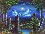 月と倒木2