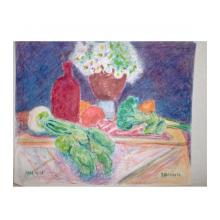 花と野菜とビン