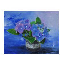 ゆうだち前の紫陽花