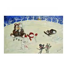 雪遊び(狐さんもおいでよ!)